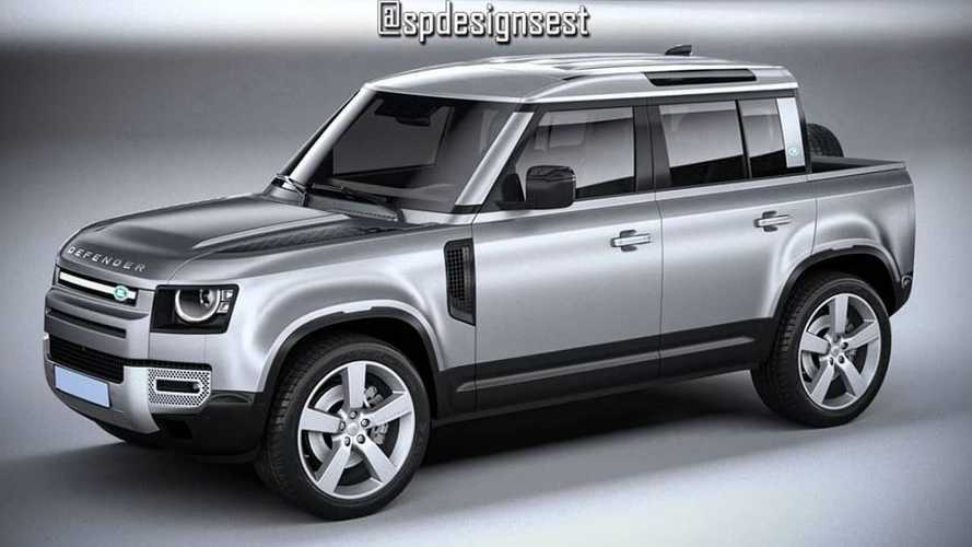 2020 Land Rover Defender Truck Rendering Has Tiny Bed