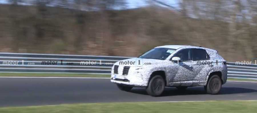 2021 Hyundai Tucson Spied Holding Nothing Back At The Nurburgring