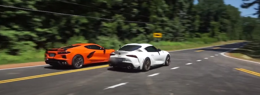 2020 Supra Drag Races C8 Corvette in Uneven Match, the Toyota Impresses