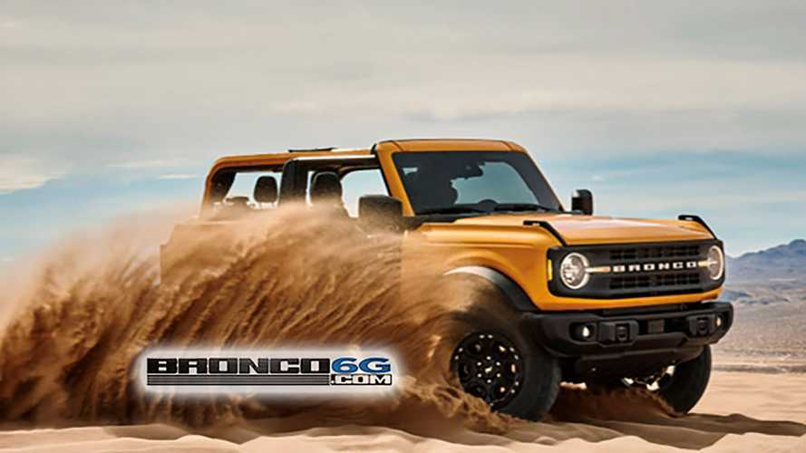 2021 Ford Bronco Leaked Showing Roofless, Doorless Fun In The Sand