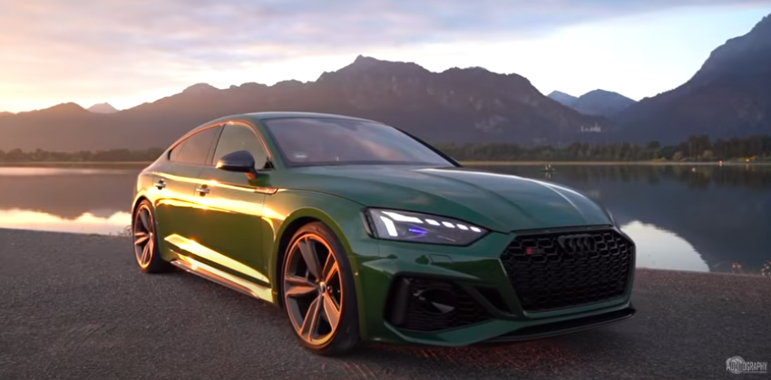 Green Audi RS5 With Matte Bronze Wheels Flaunts Special Spec On Camera