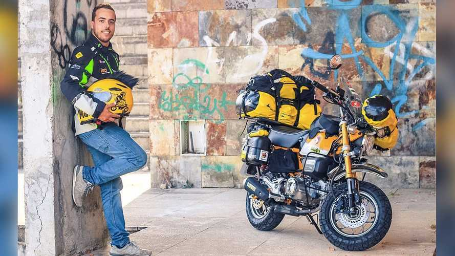 Dude Will Travel 60,000 KM Around The World On A Honda Monkey