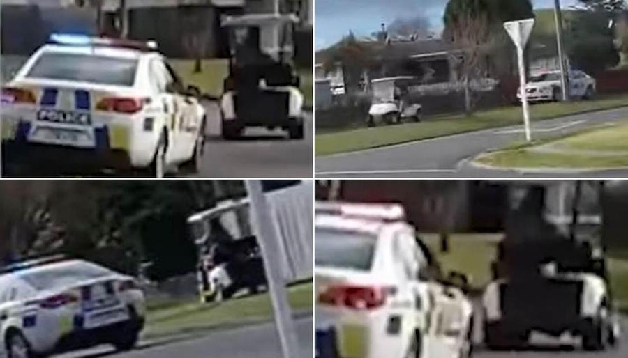 New Zealand Cops Deliver the Most Thrilling Pursuit Ever. Of a Golf Cart