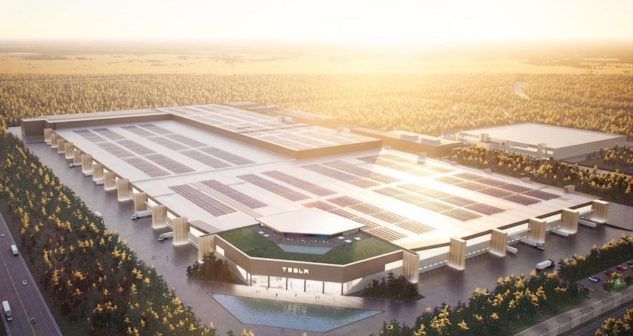 Here's Your First Look at Tesla Berlin Gigafactory, With Rave Space on the Roof