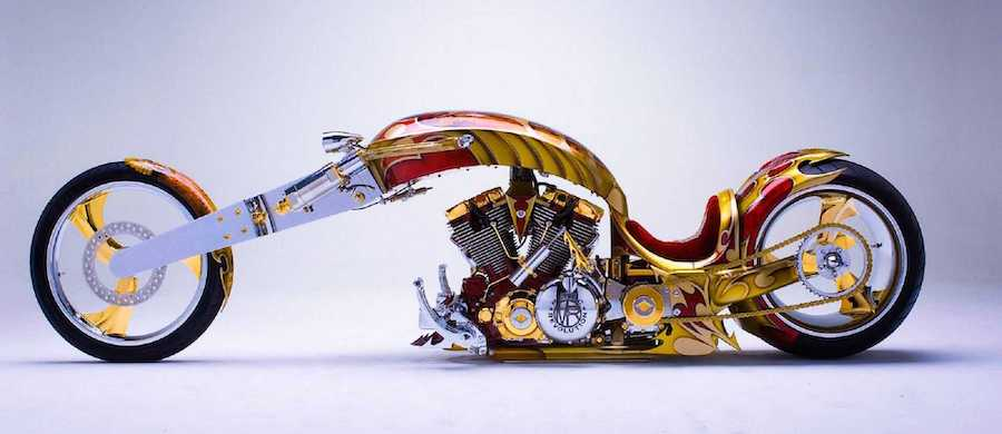 Nehmesis, the Yamaha Road Star Chopper Dripping in Gold and Shamelessness