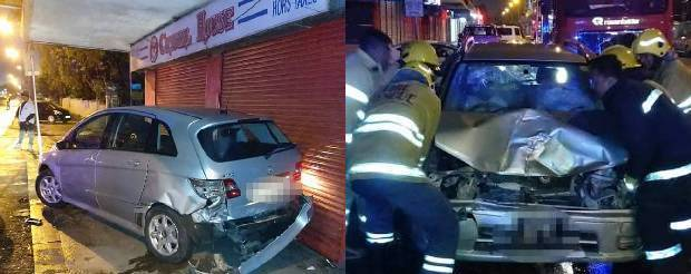 Curepipe: spectaculaire accident hier soir