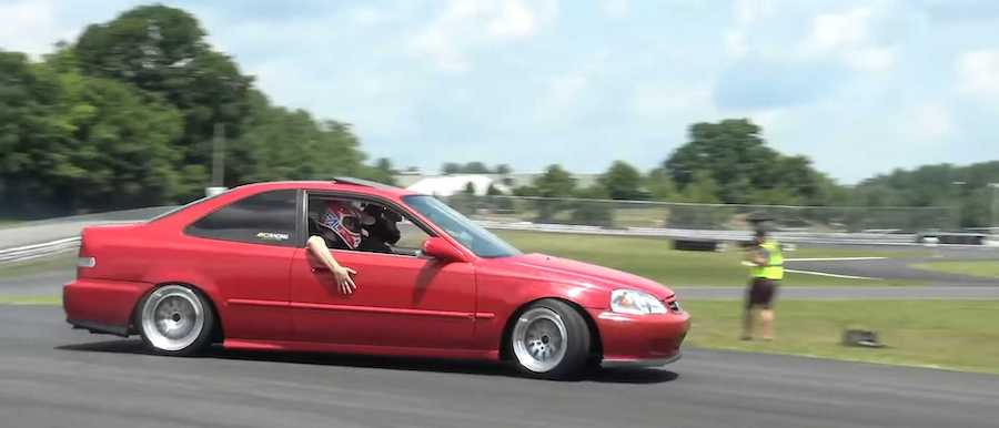 See Epic RWD Honda Civic Drift Car Come To Life In Just 10 Minutes