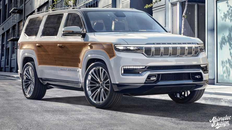 Jeep Grand Wagoneer Woody Already Rendered In All Its Retro Glory