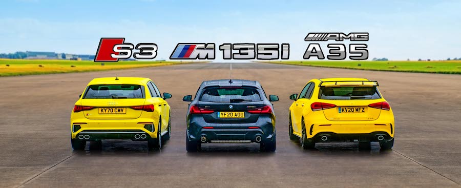 2021 Audi S3 Drag Races AMG A35 And BMW M135i