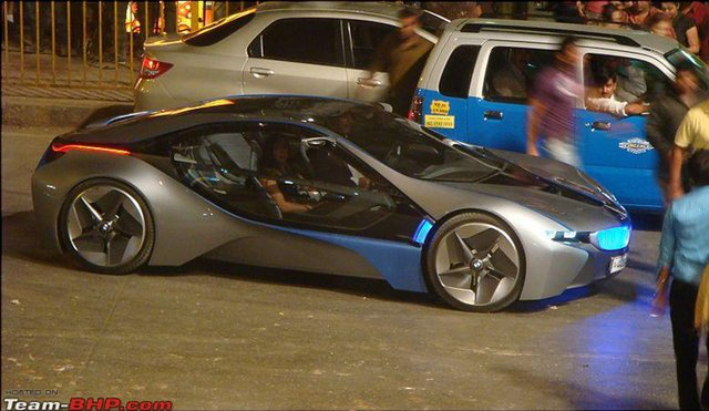 BMW Vision EfficientDynamics spotted on the set of Mission: Impossible 4