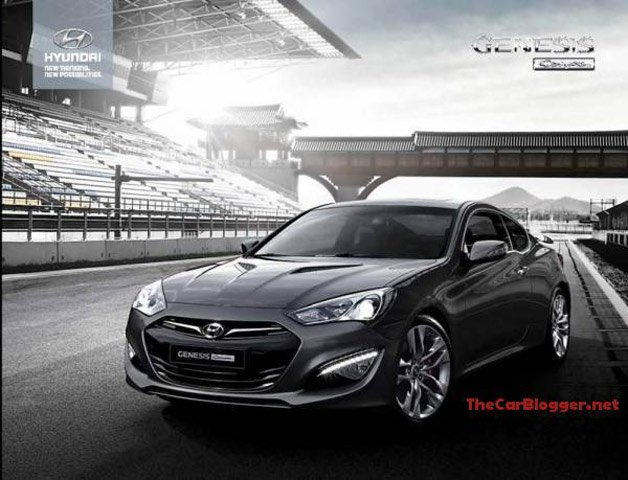 New 2013 Hyundai Genesis Coupe Image Leaks Out