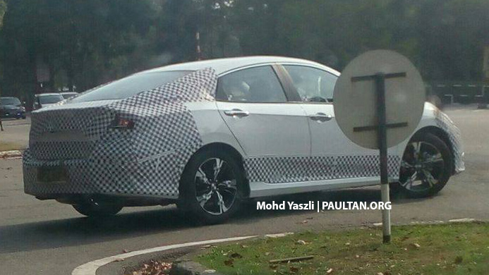 2016 Honda Civic Spied Testing In Malaysia