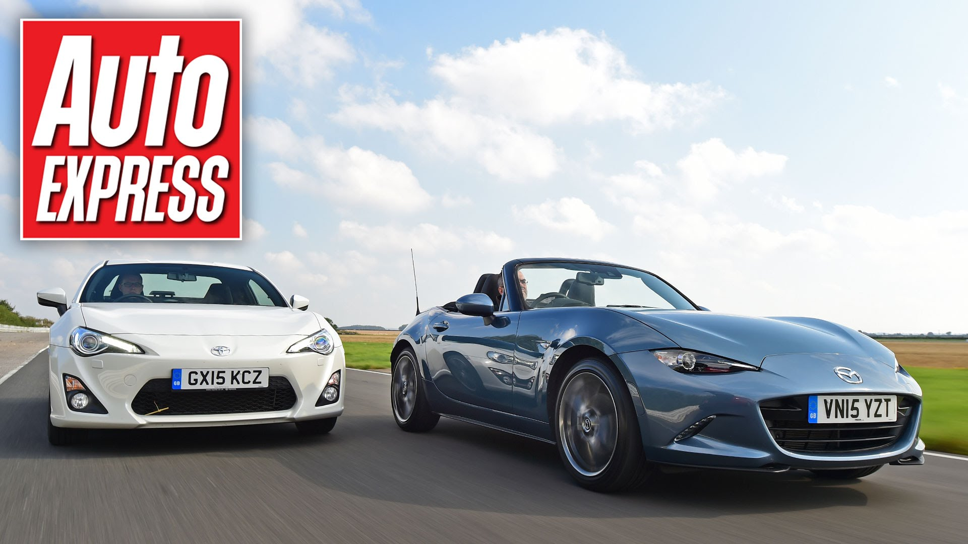2016 Mazda MX-5 Miata Battles Toyota GT86 on Track