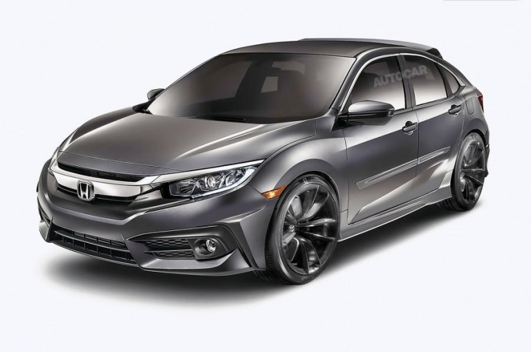 2017 Honda Civic Hatchback rendering