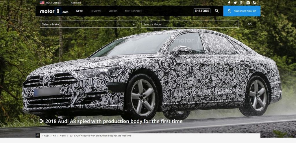 2018 Audi A8 Spied In Production Body For The First Time