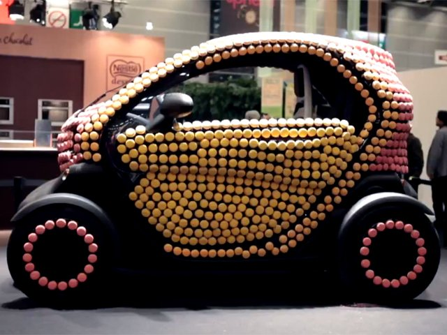 Renault Twizy Covered in Macaroons