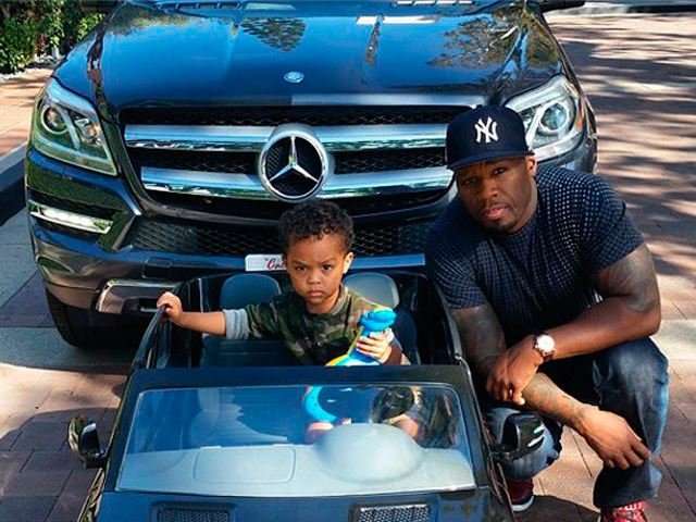 50 Cent Gets His 2-Year Old a Miniature Matching Mercedes