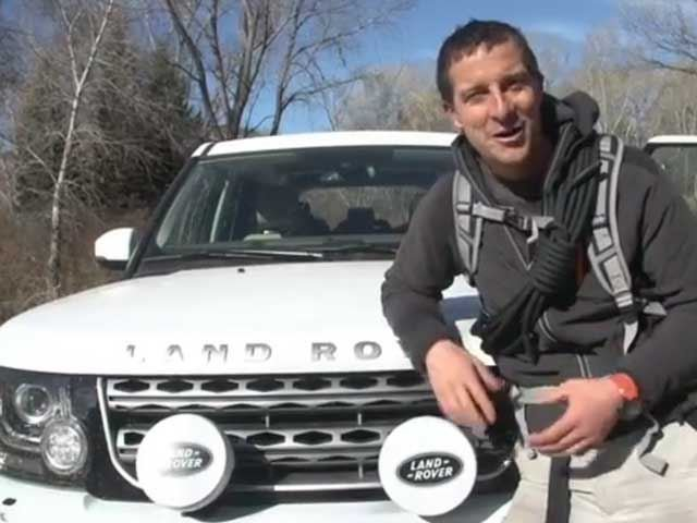 Bear Grylls Teaches Exploring Skills to Land Rover Challenge Winner