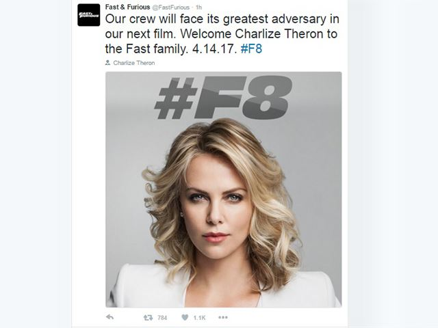 Oscar-Winning Badass Charlize Theron Will Be The Villain In 'Furious 8'