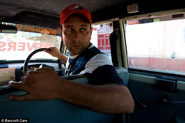 Harpreet Devi, 33, has been reversing along India's roads for past 11 years