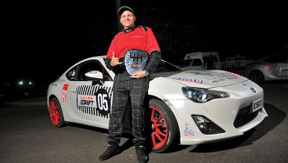 "Emmanuel d'Hotman, premier champion de la manche mauricienne du ""Red Bull Car Park Drift Series"""