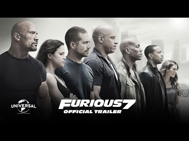 Furious 7 Drops Official Theatrical Trailer