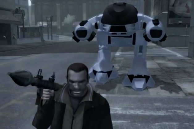 Just When You Thought Grand Theft Auto IV Couldn't Get Cooler... RoboCop Mod Happens