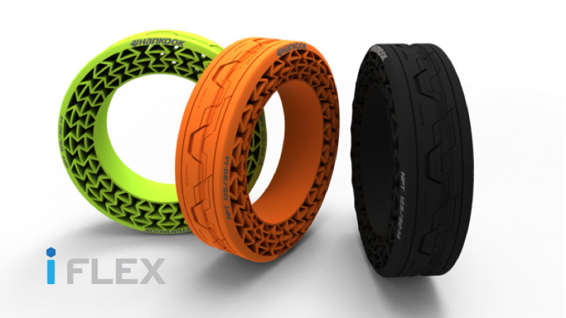 Hankook Shows Off iFlex Tires with No Air