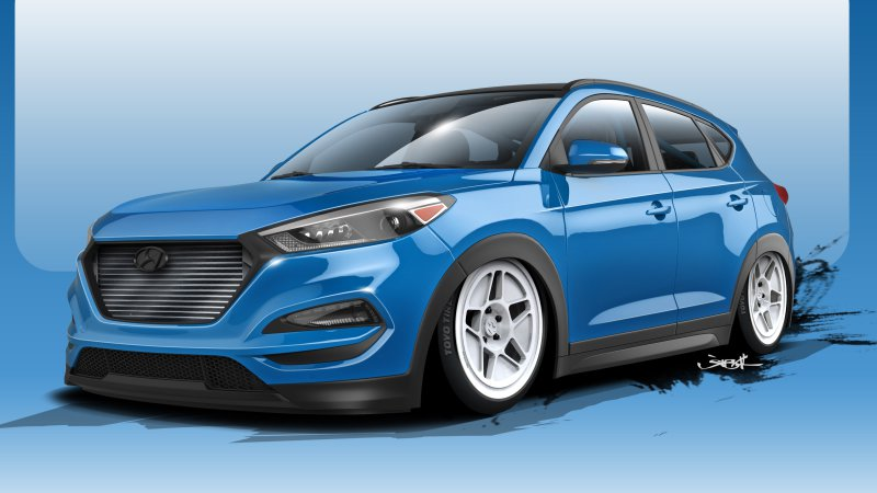 Hyundai Cranks the Tucson to 700 hp for SEMA