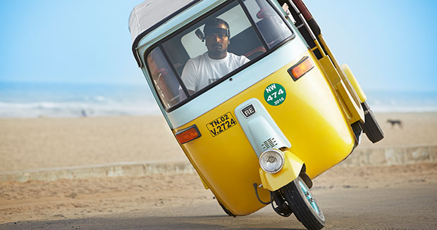 Indian Driver Sets Record for Two-Wheeled Tuk-Tuk Driving