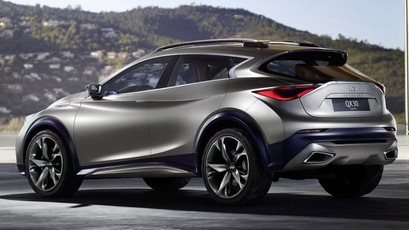 First Infiniti QX30 Concept Image Released Ahead of Geneva Motor Show
