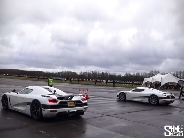This Koenigsegg vs Koenigsegg Drag Race Is the Best Thing You'll See All Day