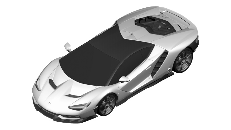Lamborghini Centenario Possibly Revealed in Patent Photos