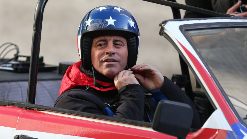 Matt LeBlanc Nearly Runs Over Cameraman During Top Gear Shoot