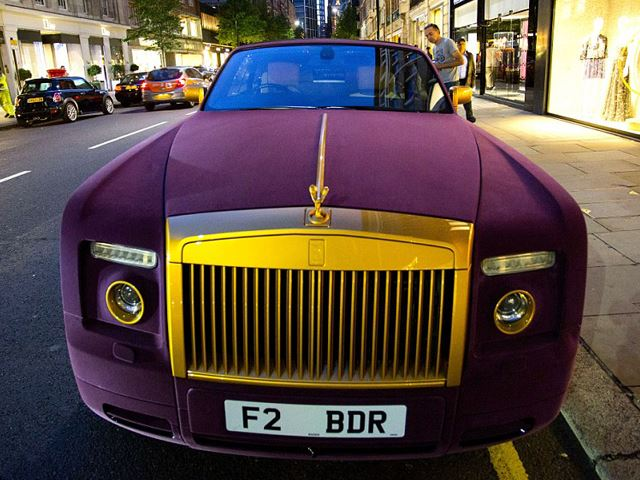 Is This Purple Velvet Rolls Royce the Ultimate Pimp Mobile?