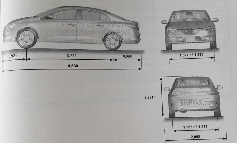 All-New Renault Fluence (Renault Megane Sedan) Leaked In Owner's Manual
