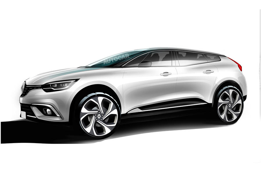 Renault SUV-coupe rendering