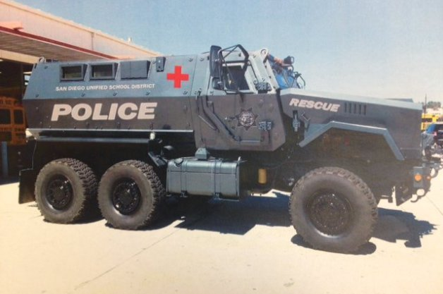 Truant Students Beware, San Diego School District Acquires MRAP