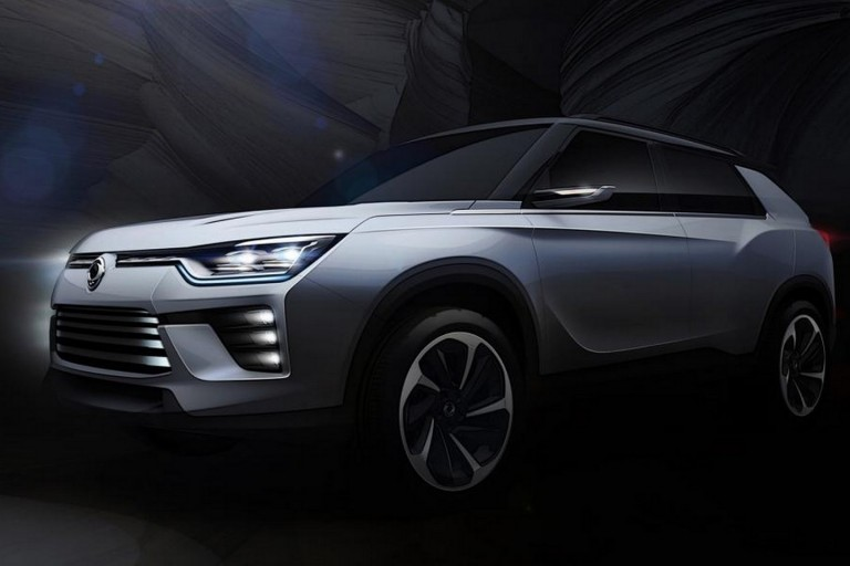Ssangyong SIV-2 SUV Concept Teased Ahead of Geneva Show