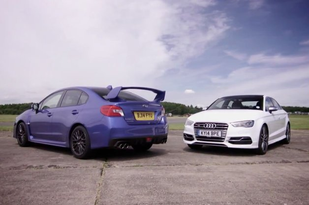 Subaru WRX STI vs. Audi S3 in Compact AWD Dustup