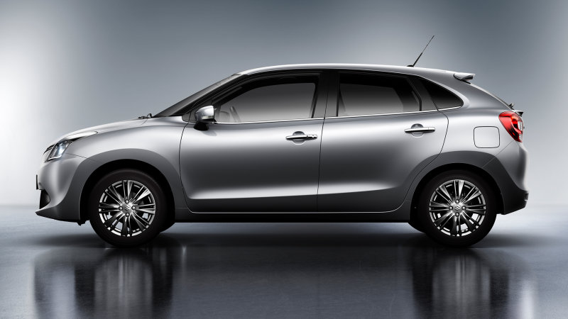The Suzuki Baleno, shown, will target buyers looking for a spacious subcompact car.