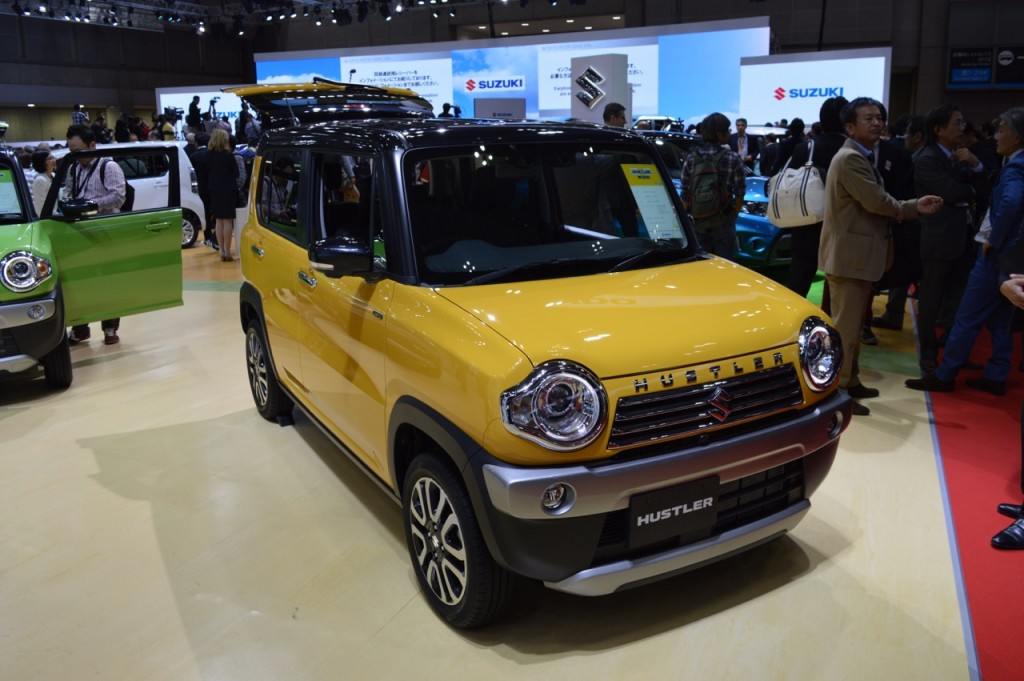 Tokyo Motor Show Suzuki Hustler Facelift Solio Hybrid Mighty Deck Concept Air Triser And India Bound Ignis