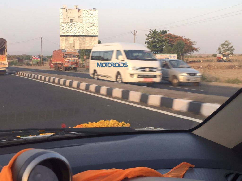 Toyota Hiace India spy shots