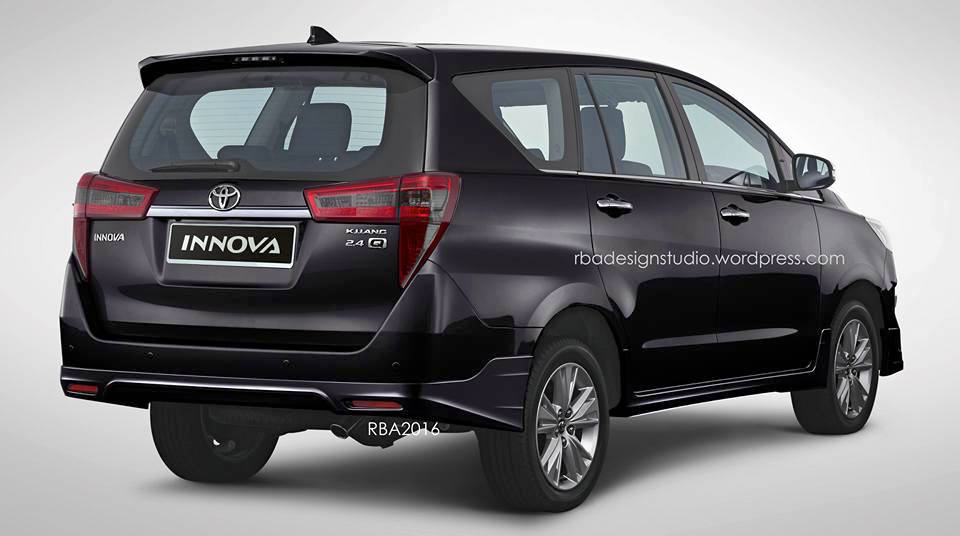 Toyota Innova Crysta Rendered