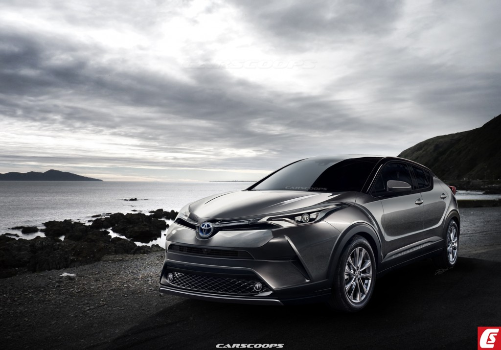 Toyota C-HR Compact SUV  Rendering