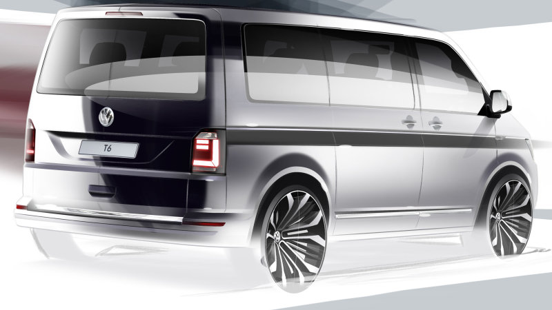 Volkswagen Drops First Teaser of Next-Gen T6 Transporter