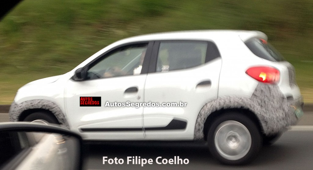 Renault Kwid Photographed Nearly Undisguised In Brazil