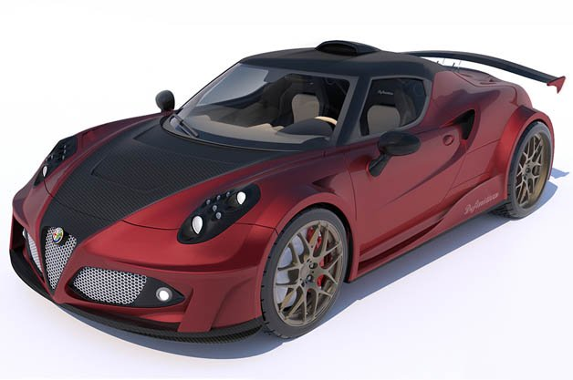 Lazzarini Dreams Up Ferrari-Powered, Hennessey-Tuned Alfa Romeo 4C