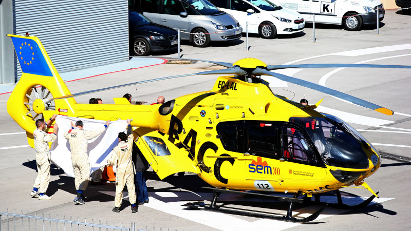 Fernando Alonso Airlifted to Hospital After F1 Test Crash