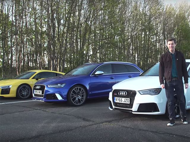 This Ultimate Drag Race Shows Off All Of Audi's Fastest Cars